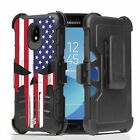 For Galaxy J3 Achieve / J3 Star Hybrid Armor Belt Clip Case Punisher Spartan