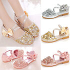 kids gold shoes - Summer Girl Paillette Kids Baby Girls Sandal Flat Wedding Roman Party Shoes Size