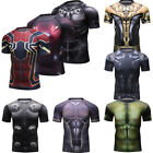 Marvel Superhero Shirts Costume Cosplay 3D Mens Print Dri-fit Sports Tee Youth