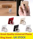 Finger Grip Rotating Ring Stand Holder Mobile Phones iPhone Tablet iPad Ros Gold