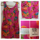 Victoris Secret Moda Intl Sleeveless Dress Size 4 Zip Floral Pocket Short Rayon