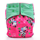Happy Flute Bamboo Charcoal Reusable Baby Diapers AIO Cloth Diaper Fit 5-15kg