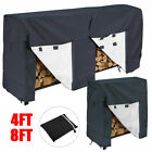 Внешний вид - 4ft 8ft Log Rack Cover Waterproof Firewood Wood Heavy Duty Storage Holder Cover