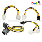 Mini Dual 4 6 Pin to 8 Pin PCIe PCI-E Express Power Cable Female Male 20cm 7.87""