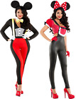 Adult Ladies Minnie and Mickey Mouse Costume Play Role Fancy Dress Cosplay