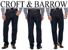 Mens Croft & Barrow Classic-Fit Flannel-Lined Jeans Dark Denim Sizes: 38, 40, 42