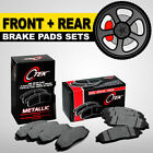 FRONT + REAR Metallic Brake Pad 2 Complete Sets Toyota Corolla, Matrix, Scion xB