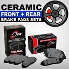 FRONT + REAR Ceramic Brake Pad 2 Complete Sets Ford Mustang Base GT 1999-2004