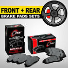 FRONT + REAR Metallic Brake Pad 2 Sets Chevrolet HHR, Cobalt SS Brembo Calipers