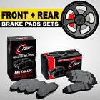 FRONT + REAR Metallic Brake Pad 2 Sets Toyota Sienna, Highlander, Lexus RX350