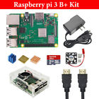 Raspberry Pi 3 B B Plus Starter Kit Case  HDMI  Power Adapter 16G Raspbian