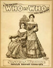 Photo Print Vintage Poster: Stage Theatre Flyer Who Is Who C02