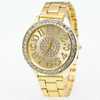 UK Women Diamond Rhinestone Wrist Watch Quartz Analog Stainless Steel Luxury