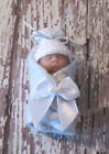 Bundled Baby Miniature OOAK Polymer Clay Baby in Pink or Blue
