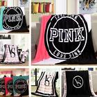 Victoria's Secret Love Pink Plush Throw Blanket. 5 Colors To Choose From image