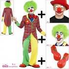 Boys Girls Circus Clown COSTUME + WIG + SHOES + NOSE + FACEPAINT Fancy Dress