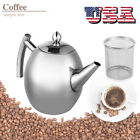 1/1.5L Stainless Steel Tea Kettle Teapot for Stove Top Fast Boil Water Coffee US photo