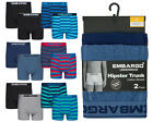 Mens Hipster Trunks Cotton Boxers Multi Pack Embargo Underwear Gift Idea Cheap