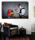 Banksy Graffitti Super Mario Street Art Canvas / Gloss 36x24 Giclee Print