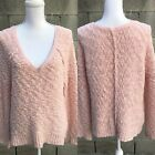 Free Peoplw Women Pink Sweater Size Small