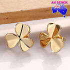 Wholesale 18K Yellow Gold Filled Clover Stud Earrings Gift