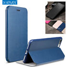 For iPhone XS Max XR 6 7 8 Case Original X-Level Leather Flip Wallet Stand Cover