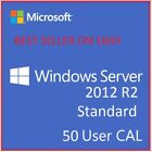 Windows Server 2012 R2 Standard/DataCenter Edition + 50 User/Device RDS CAL