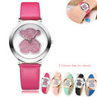 Women Watch Cute Blingbling Bear Watch Women Leather Band  Ladies Watch Fashion