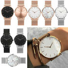 Women Fashion Gift Stainless Steel Band Analog Quartz Wristwatch Vintage Watch image