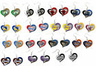 NBA Earrings Licensed Swirl Heart Glitter Team Jewellery Pick Your TEAM