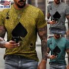 Mens Slim Fit V Neck Short Sleeve Muscle Tee Shirts Casual T-shirt Tops Blouse T