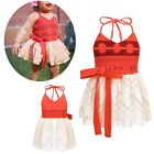 Baby Girls Princess Moana Backless Dress Halloween Cosplay P