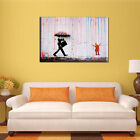 Unframed Colorful Rain Banksy Street Art Canvas Painting Picture Wall Home Decor