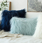 Decorative Faux Fur Cushion Cover Throw Pillow Insert 12x20