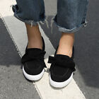 UK Womens Ladies Casual Bowknot Slip On Flat Shoes Pumps Trainers Loafers Size