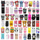 3d Cartoon Soft Silicone Rubber Back Cover Case For Iphone 4/5/se/ 6/7/8 Plus