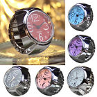 Dial Quartz Analog Watch Creative Steel Mini Elastic Quartz Finger Ring Watch image