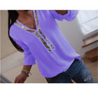 US Women Clubwear Sequin V Neck Long Sleeve Tops Casual T-Shirt Blouse Plus Size <br/> ❤️US Seller❤️60days Free Return❤️S-XXXXXL Free Shipping