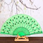 Colorful Chinese Hand Held Fan Party Wedding Dance Party Fan Decor Accessory Hot