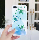 Mint Leaf Painting Full Soft Silicone Back Phone Case For iPhone X 6 6S 7 8 Plus