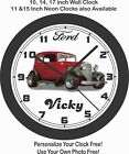 1932 FORD VICKY (VICTORIA) WALL CLOCK-FREE USA SHIP-CHOOSE 1 OF 3