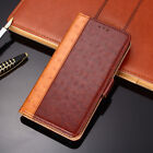 New Luxury Ostrich Texture Flip PU Leather Stand Hit Color Case For Homtom S16