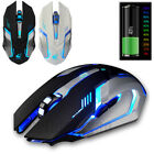 X7 Rechargeable Wireless LED Optical 1600DPI Gaming Mouse Mice for PC Laptop