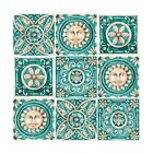 Floral Tile Sticker Waterproof Pearl Film Wall Paster for Kitchen Bathroom Decor