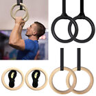 Gymnastic Olympic Gym Ring Strength Crossfit Training Adjustable Pair Wooden/ABS