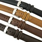 Genuine Oily Calf Leather Watch Strap Padded SS Buckle 18,20,22 and 24mm