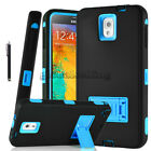 For Samsung Galaxy Note 2 3 4 Rugged Silicone Rubber Shockproof Armor Case Cover