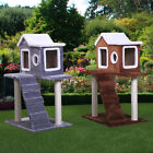 36' Pet Cat Tree Play House fluffy Condo w/ Scratching Posts Climbing Ladder