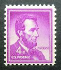 1036 MNH 1954 4c Abraham Lincoln Republican President Great Liberator Log Cabin