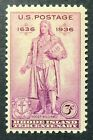 777 MNH 1936 3c Rhode Island Roger Williams Providence Newport Liberty Anchor